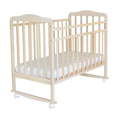 Кроватка СКВ-Компани 16011x Митенька (качалка), на полозьях береза