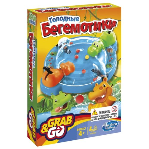 Купить Настольная игра Hasbro Игры Голодные бегемотики. Дорожная версия B1001, Настольные игры