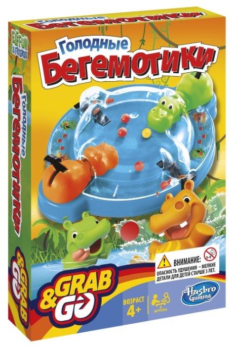 Настольная игра Hasbro games Голодные бегемотики. Дорожная версия B1001
