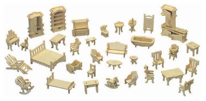 Сборная модель Мир деревянных игрушек Набор мебели (П077),,