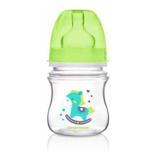 Купить Canpol Babies Бутылочка антиколиковая с широким горлом 120 мл Игрушки с рождения, салатовый, Бутылочки и ниблеры