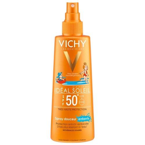 Vichy Capital Ideal Soleil спрей для детей SPF 50 200 мл матирующая эмульсия для лица драй тач spf 30 50 мл термальная вода 50 мл vichy ideal soleil