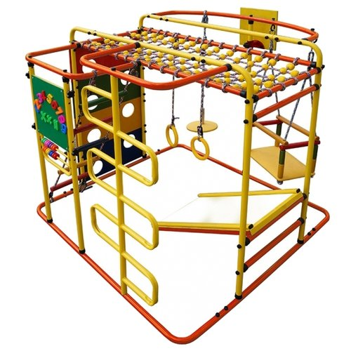 Купить Спортивно-игровой комплекс Формула здоровья Мурзилка-S оранжевый/радуга, Игровые и спортивные комплексы и горки
