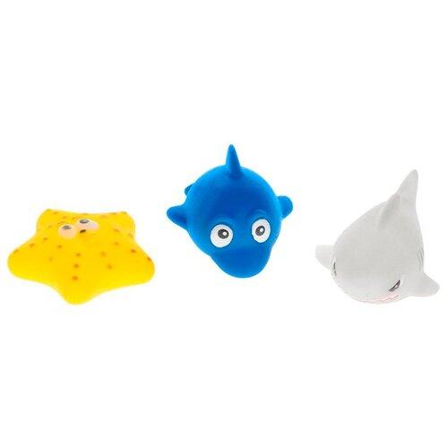 Набор для ванной ABtoys Набор игрушек-брызгалок (PT-00332) синий/серый/желтый