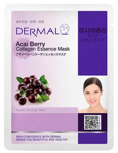 DERMAL тканевая маска Acai Berry Collagen Essence Mask с коллагеном и экстрактом ягоды асай
