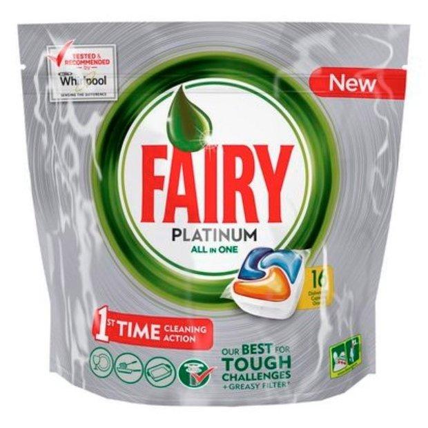Fairy Platinum All in 1 капсулы (апельсин) для посудомоечной машины