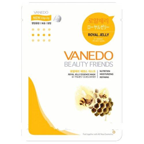 Vanedo Royal Jelly Essence Mask Sheet Pack Маска для лица с маточным молочком, 25 г bergamo маска трехэтапная для лица увлажняющая 3step aqua mask pack 8 мл