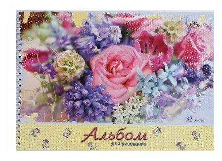 Альбом для рисования Апплика Розы и крокусы 29.7 х 21 см (A4), 100 г/м², 32 л.