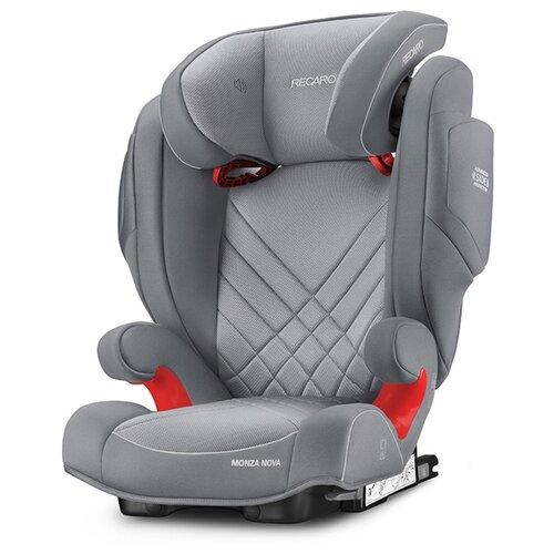 Автокресло группа 2/3 (15-36 кг) Recaro Monza Nova 2 SeatFix, Aluminium Grey