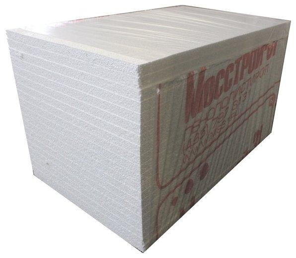 Вспененный пенополистирол (EPS) Мосстрой-31 ПСБ-С 15У 100х100см 30мм 20 шт