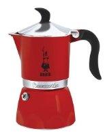 Гейзерная кофеварка Bialetti Fiammetta (на 3 чашки по 50 мл), красная