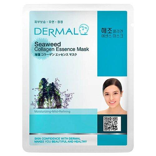 DERMAL тканевая маска с коллагеном и экстрактом морских водорослей, 23 г laloli тканевая маска увлажняющая с экстрактом морских водорослей и алоэ вера 30 г