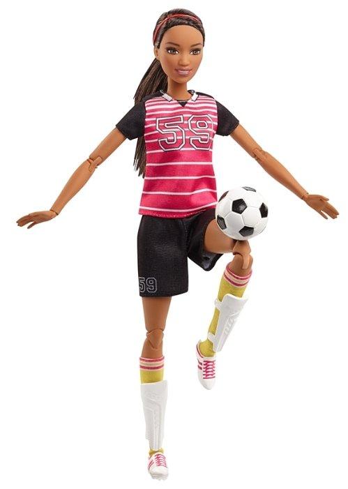 Кукла Barbie Безграничные движения Футболистка Афроамериканка, 29 см, FCX82