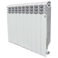 Радиатор секционный биметаллический Royal Thermo Revolution Bimetall 500 x10 500/80 , теплоотдача 1040 Вт 10 секций , подключение универсальное боковое