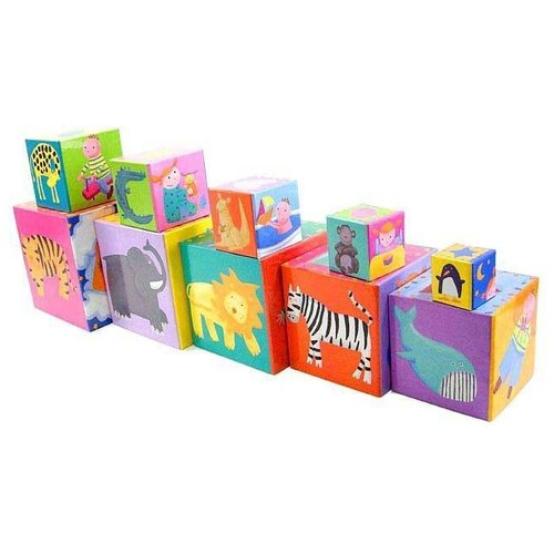 Кубики-пазлы DJECO Забавные кубики недорого