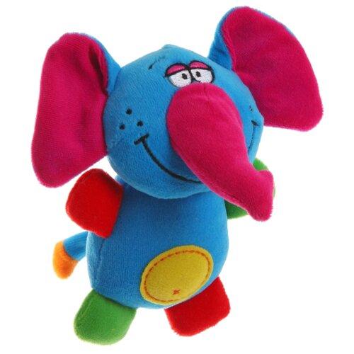 Купить Погремушка BONDIBON Кот/собака/слон ВВ1280 синий/розовый слон, Погремушки и прорезыватели