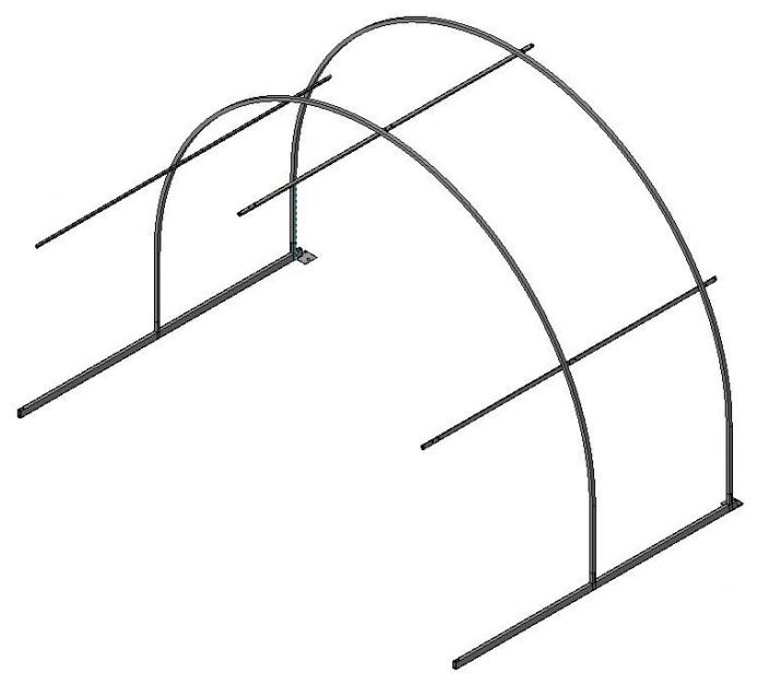 Каркас дополнительной секции Метаком Дачница усиленная 210х300см