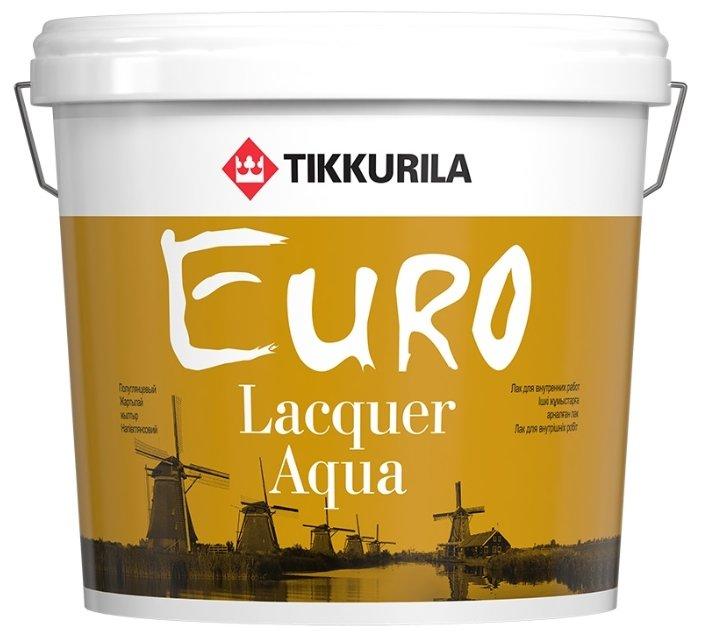 Лак Tikkurila Euro Lacquer Aqua матовый (2.7 л)