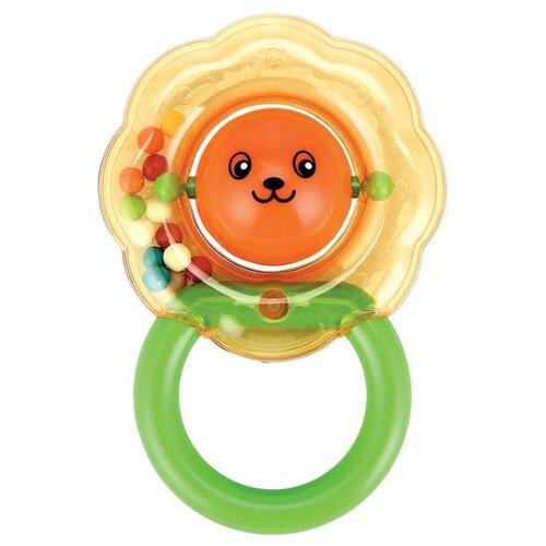 цена на Погремушка Happy Baby Leo зеленый/оранжевый