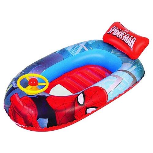 Надувная лодочка Bestway Spider-Man 98009 BW красный/синий/желтый надувная лодочка bestway рыбки 34036 bw желтый
