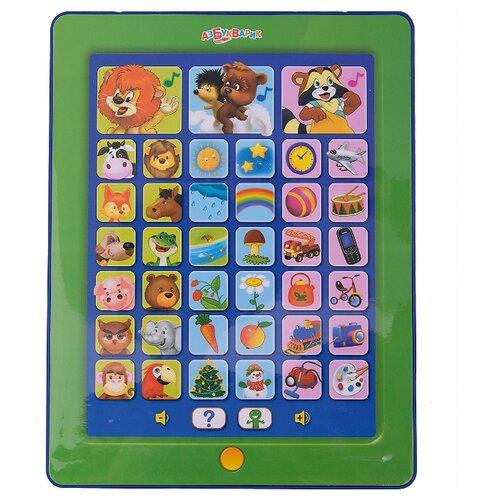 Планшет Азбукварик Загадайка зеленый/синий азбукварик обучающая игрушка планшетик загадайка цвет зеленый синий