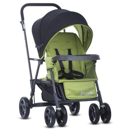 Купить Прогулочная коляска для двойни Joovy Caboose Graphite, зеленый, Коляски
