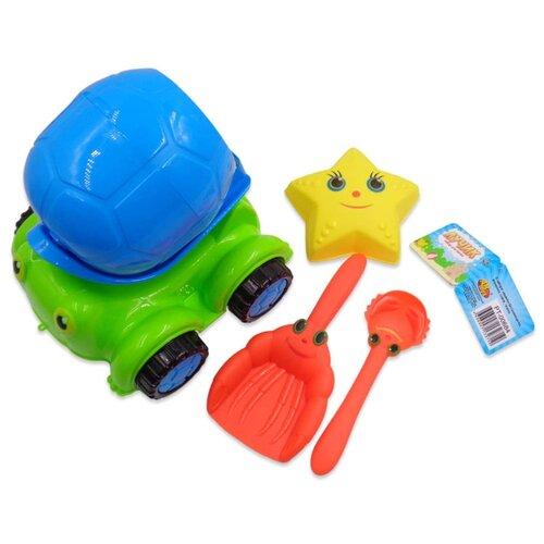 Купить Набор ABtoys PT-00684 зеленый/красный/желтый/голубой, Наборы в песочницу