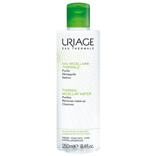 Uriage мицеллярная вода очищающая для жирной и комбинированной кожи, 250 мл uriage мицеллярная вода очищающая для чувствительной склонной к покраснению кожи 100 мл