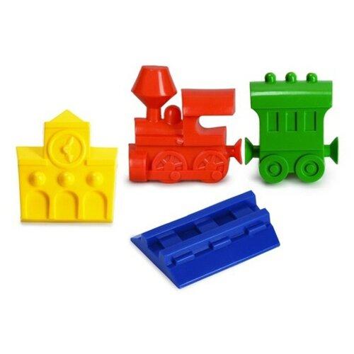 Купить Набор Росигрушка Семафор 9364 красный/синий/желтый/зеленый, Наборы в песочницу