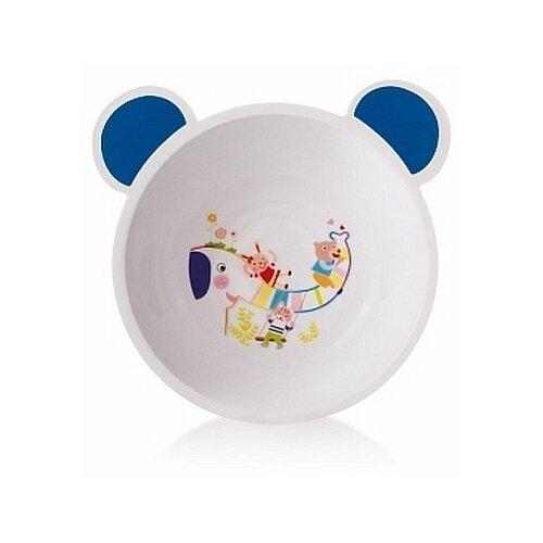 Купить Тарелка Canpol Babies пластиковая с ушками (4/415) синий, Посуда