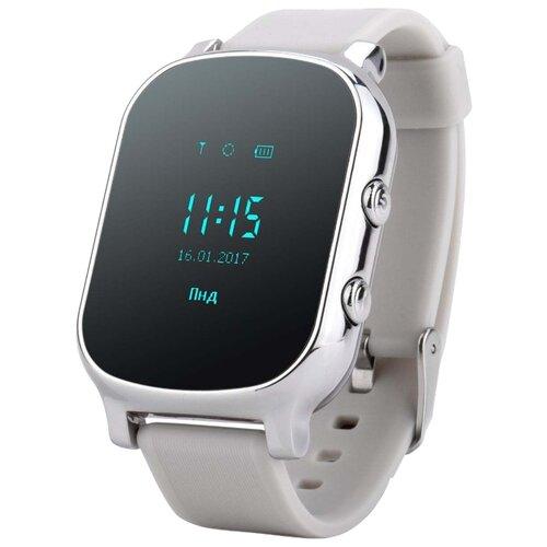 Детские умные часы c GPS Smart Baby Watch T58 серебристый детские умные часы smart baby watch q80 желтый