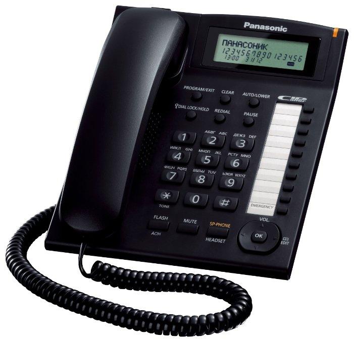 Проводной телефон Panasonic KX-TS2388, Black