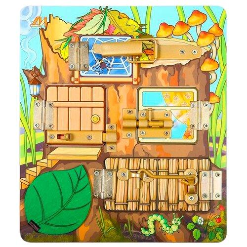 деревянные игрушки Бизиборд Деревянные игрушки Теремок разноцветный