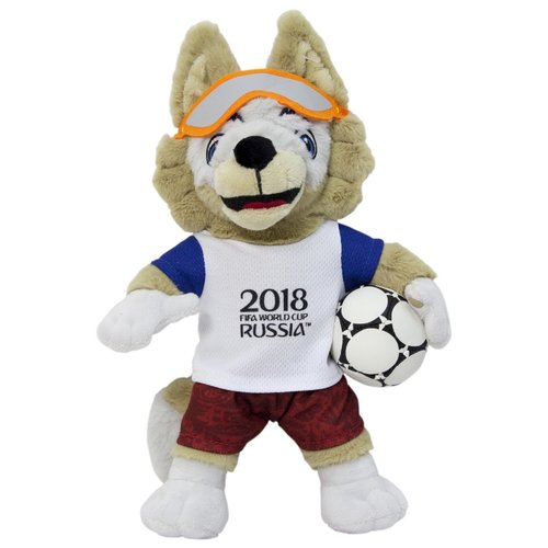 цена на Мягкая игрушка 1 TOY FIFA-2018 Волк Забивака 28 см