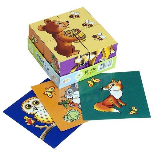 Купить Кубики-пазлы Step puzzle Baby step Лесные животные 87326, Детские кубики