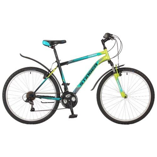 Горный (MTB) велосипед Stinger Caiman 26 (2017) зеленый 20 (требует финальной сборки)Велосипеды<br>