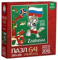 Пазл Origami ЧМ2018 Забивака Белый синий красный (03790) , элементов: 64 шт.