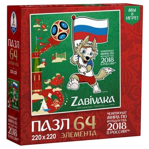 Купить Пазл Origami ЧМ2018 Забивака Белый синий красный (03790), 64 дет., Пазлы