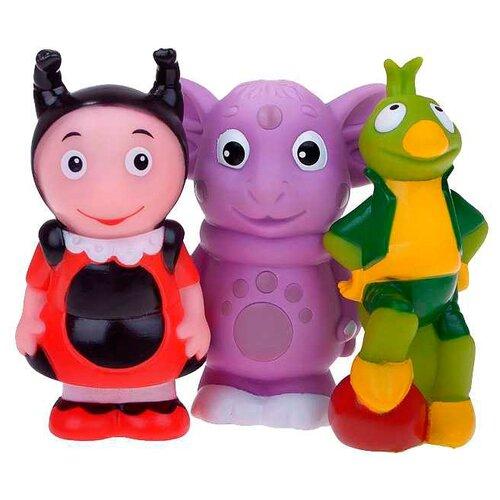 Купить Набор для ванной Играем вместе Лунтик, Мила и Кузя (141RUS-PVC), Игрушки для ванной