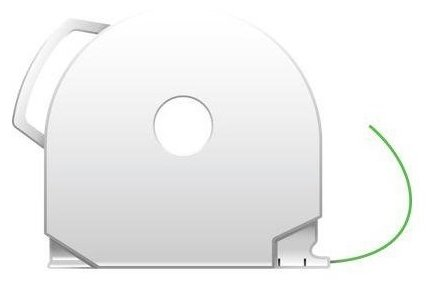 ABS пруток 3D Systems CubePro 1.75 мм светящийся зеленый