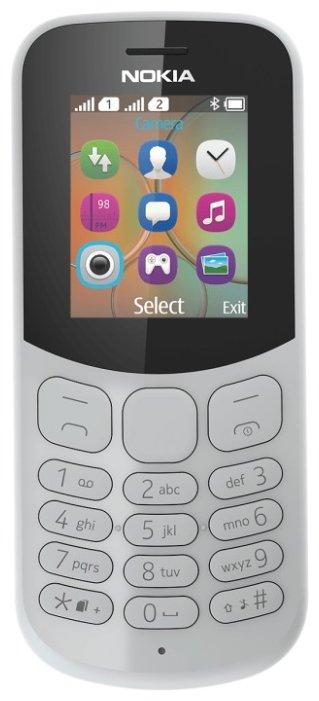 Телефон Nokia 130 Dual sim (2017) серый