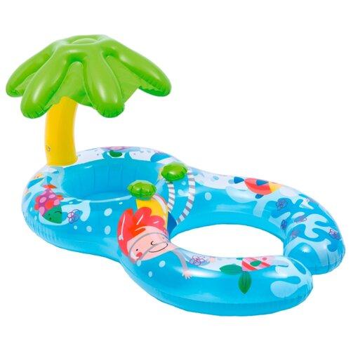 Круг надувной для плавания Intex Мой первый круг 56590 синий/зеленый/розовый круг для плавания детский intex ocean reef 61см 59242