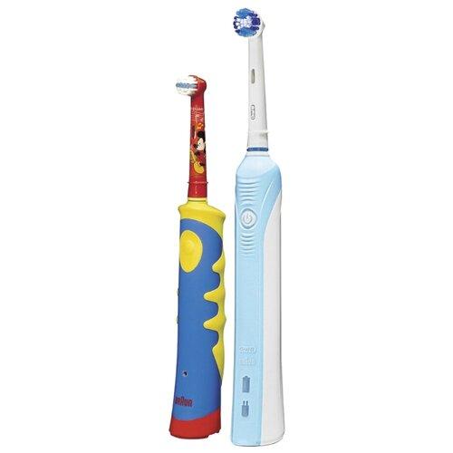 Электрическая зубная щетка Oral-B Professional Care 500 + Kids D10.513K (2017), желтый/синий