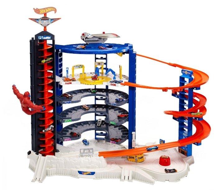 Mattel Игровой набор Hot Wheels Super Ultimate Garage, 6-ти уровневый паркинг FDF25