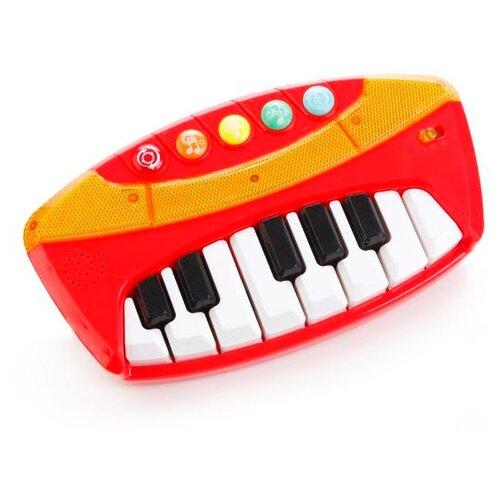 Купить Умка пианино B1440778-R красный, Детские музыкальные инструменты