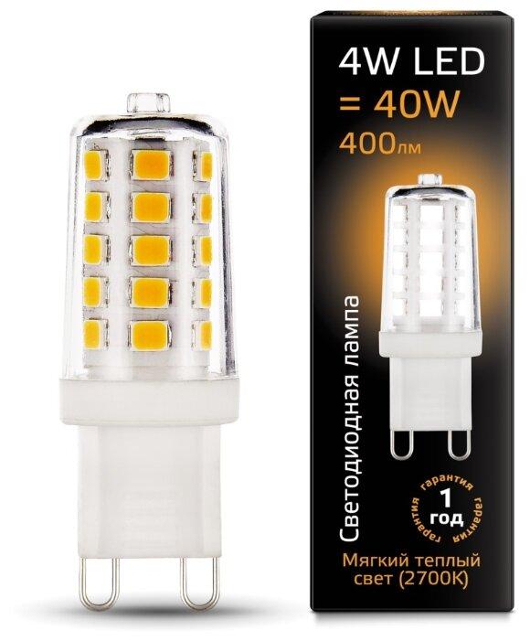 Лампа светодиодная gauss 107309104, G9, JCD, 4Вт