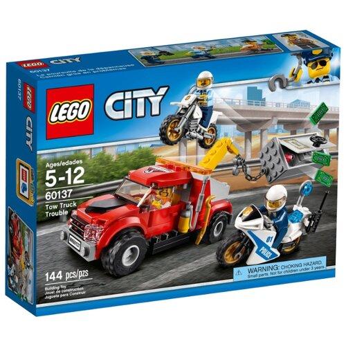 Конструктор LEGO City 60137 Побег на буксировщике конструктор city lego lego mp002xb00c9t