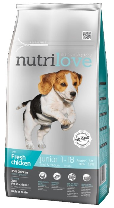 Корм для собак nutrilove Dogs - Dry food - Junior Small & Medium