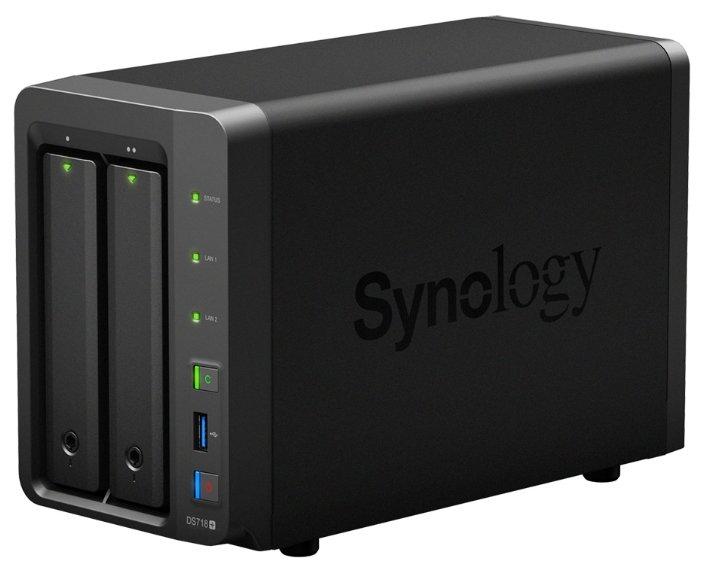 Система хранения информации Synology DS718+ 2BAY NO HDD настольное исполнение