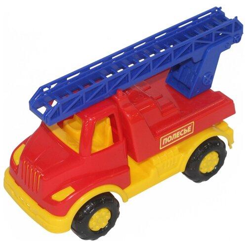Пожарный автомобиль Полесье Леон (52889) 24 см красный/синий/желтый